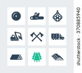 logging  forestry equipment... | Shutterstock .eps vector #370885940