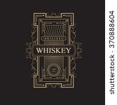 western whiskey label vintage... | Shutterstock .eps vector #370888604