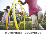child children childhood hula... | Shutterstock . vector #370898579