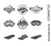 set of snowboarding logos and... | Shutterstock .eps vector #370898720