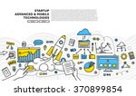 flat style  thin line art... | Shutterstock .eps vector #370899854