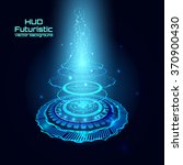 futuristic interface  hud   sci ... | Shutterstock .eps vector #370900430