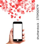 modern smartphone in male hand... | Shutterstock . vector #370900979