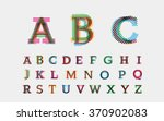 Color Alphabetic Fonts. Vector...