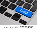 black keyboard with chance... | Shutterstock . vector #370903883