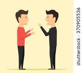 people swear. people accuse...   Shutterstock .eps vector #370905536