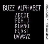 Buzz Alphabet. Glitch....