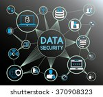data security concept  data... | Shutterstock .eps vector #370908323