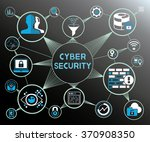 cyber security concept ... | Shutterstock .eps vector #370908350