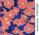 hand drawn floral  elegant... | Shutterstock .eps vector #370910588