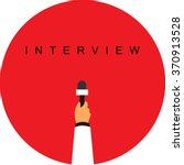 microphone   interview | Shutterstock .eps vector #370913528
