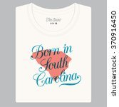 """T Shirt With Logo Text """"born In ..."""