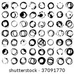 grunge glass stains | Shutterstock .eps vector #37091770
