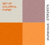 set of colorful paper. vector... | Shutterstock .eps vector #370924574