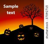 vector halloween pumpkins | Shutterstock .eps vector #37092715