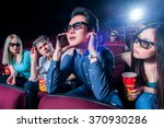 people in the cinema wearing 3d ... | Shutterstock . vector #370930286