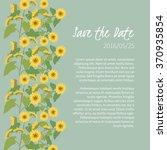 floral  sunflower retro vintage ... | Shutterstock .eps vector #370935854