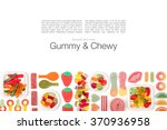 various jelly candies on white... | Shutterstock . vector #370936958