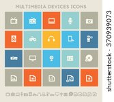 trendy flat design multimedia... | Shutterstock .eps vector #370939073