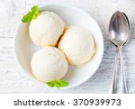 vanilla ice cream with mint in... | Shutterstock . vector #370939973
