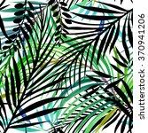 watercolor tropical nature... | Shutterstock . vector #370941206