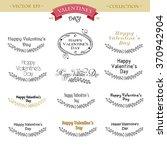 valentine s day lettering set.... | Shutterstock .eps vector #370942904