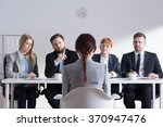 woman during job interview and... | Shutterstock . vector #370947476