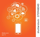 flat mobile phone vector with... | Shutterstock .eps vector #370948040