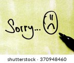 sorry note | Shutterstock . vector #370948460