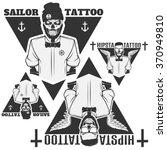 set of tattooist skeleton... | Shutterstock .eps vector #370949810
