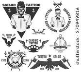 set of tattoo emblems  elements ... | Shutterstock .eps vector #370949816