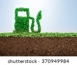 green energy concept with grass