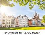 houses and park in cologne ... | Shutterstock . vector #370950284
