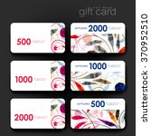 gift coupon  discount card... | Shutterstock .eps vector #370952510