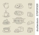 decorative hand drawn icons... | Shutterstock .eps vector #370959509