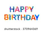happy birthday. splash paint... | Shutterstock .eps vector #370964369