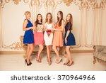 Pretty Bride With Bridesmaids...
