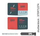 business card template vector... | Shutterstock .eps vector #370971374