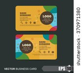 business card template vector... | Shutterstock .eps vector #370971380