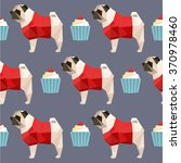 Polygon Art Pug Dog Cupcake...