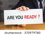 are you ready  message on white ... | Shutterstock . vector #370979780