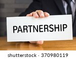 partnership  message on white... | Shutterstock . vector #370980119