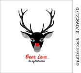 icon of valentine deer with... | Shutterstock .eps vector #370985570