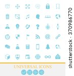 36 universal icons for web and... | Shutterstock .eps vector #370986770