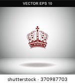 royal crown doodle hand sketch... | Shutterstock .eps vector #370987703