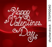 happy valentines day text ... | Shutterstock .eps vector #370990040