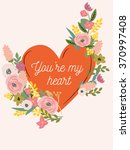 beautiful retro floral card for ... | Shutterstock . vector #370997408