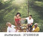 friends friendship outdoor... | Shutterstock . vector #371000318
