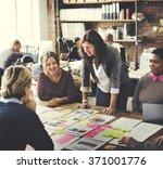 business people meeting... | Shutterstock . vector #371001776