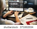 search searching exploration... | Shutterstock . vector #371002034